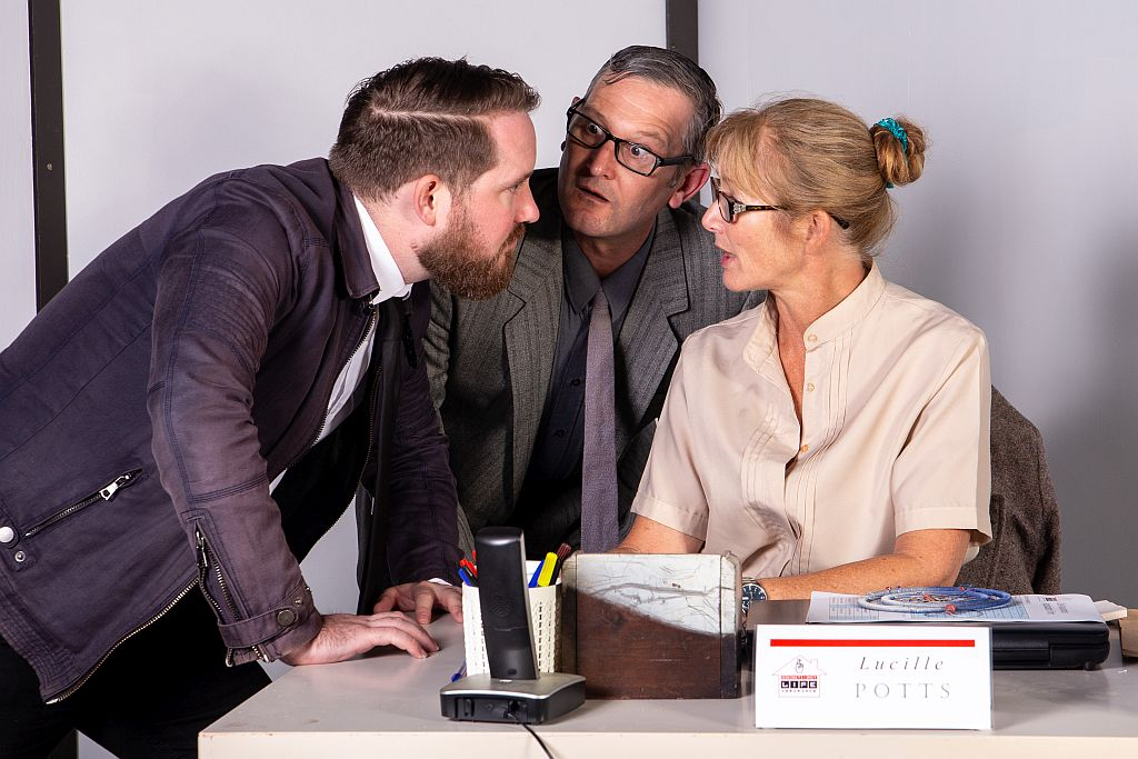 Ted's interrogating Lucille and Doug gets in the middle