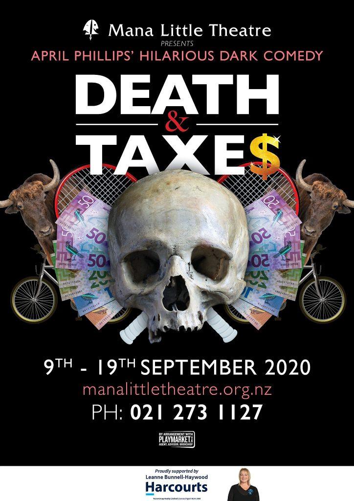 Death & Taxe$ poster, artwork by Blair McLean